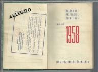 Liga Przyjaciół Żołnierza. Kalendarz 1958.