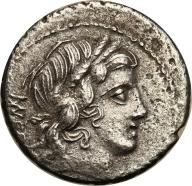 Rzym - Republika AR-denar M.N. Fonteius 85 p.n.e.