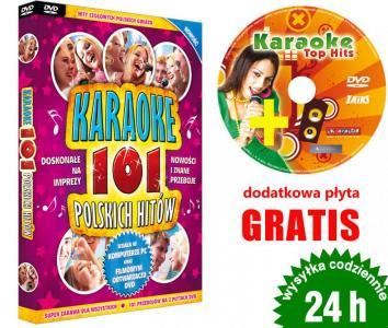 Karaoke 101 Polskich Hitów DVD + PŁYTA GRATIS