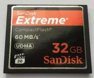 CompactFlash SanDisk Extreme 32 GB