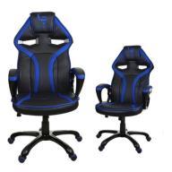 GAMINGOWY fotel biurowy dla gracza NIEBIESKI
