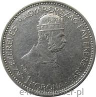 1 KORONA 1896 - WĘGRY - TYSIĄCLECIE WĘGIER - NR2