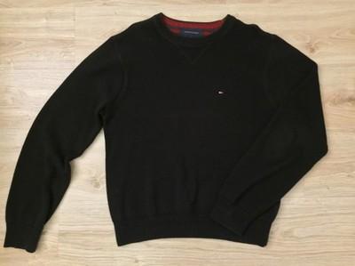 Sweter Tommy Hilfiger **Gruby**Czarny**Oryginał**M