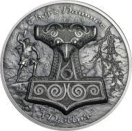 10$ MŁOT THORA MJOLLNIR 2 OZ AG 999