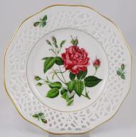 SCHUMANN ażurowy talerz dekoracyjny róże nr 1