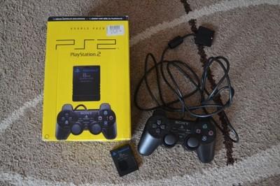 SONY oryginalny PAD PS2 + Memory Card 8 MB zestaw