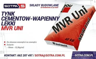 Baumit Tynk Cementowo Wapienny Lekki Mvr Uni 6047174530