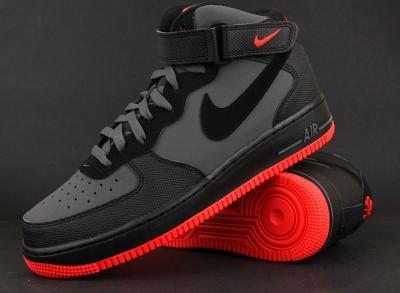 Nike Air Force 1 MID 07 315123 031 | Czarny, Szary