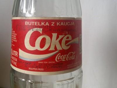 Coca Cola Coke Gruba Szklana Butelka Prl Zobacz 6774690506 Oficjalne Archiwum Allegro