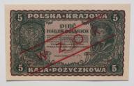 5 mkp  II ser CX  1919 stan  UNC   RARYTAS WZÓR