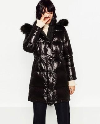 Zara płaszcz puchowy czarny M38