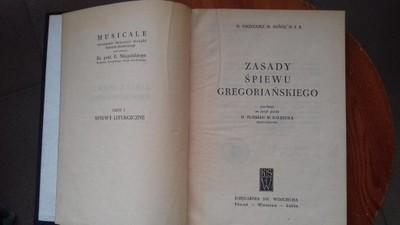 Zasady Śpiewu Gregoriańskiego  M. Sunol 1957