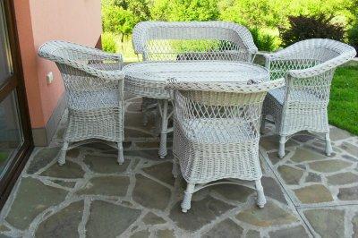 Meble Wiklinowe Wiklina 3 Fotele Sofa Stolik 6158165681