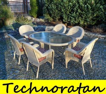 Stół6 Foteli 3 Kolory Meble Ogrod Technorattan 6114545088