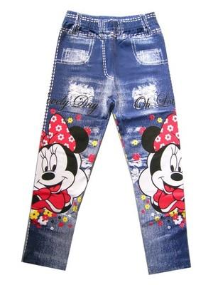 legginsy jeansy DISNEY Myszka Minnie spodnie ~ 110