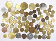 Stare żetony i monety zastępcze 80 szt. ZOBACZ!