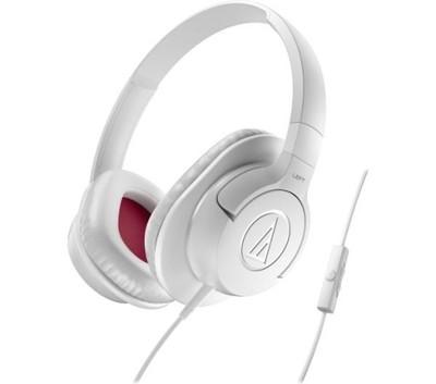BIAŁE Słuchawki przewod. Audio-Technika ATH-AX1iS