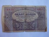 Banknot - 10 KORON 1927 ser. S.N 123 - UNIKAT
