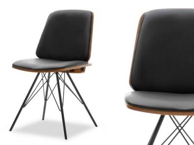 Industrialne Krzesło Drewniane Do Jadalni Mantis