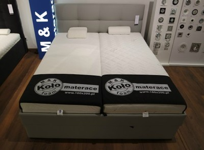 łóżko 160x200 Koło Stelaż Pojemnik I Materace
