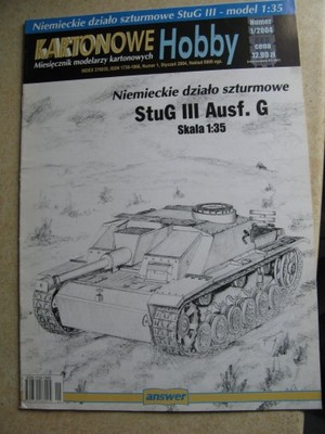 Kartonowe Hobby 1/2004 StuG III Ausf.G Działo