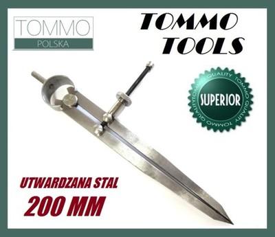 Cyrkiel Traserski Prosty 20cm Utwardzana Stal NF