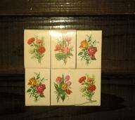 Stare Pudełka z zapałkami kwiaty karty 18szt