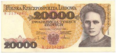 2456. 20.000 zł 1989 - B - st.3+