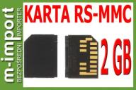 Oryginalna RS MMC karta pamięci 2GB