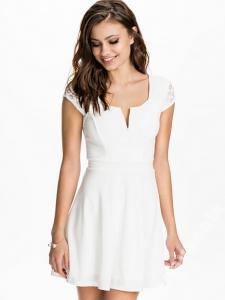 a6fd857447 TFNC biała sukienka z koronkowym wykończeniem M - 5167706591 ...