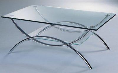 ława Stolik Kawowy Kler 110x70 Szklany