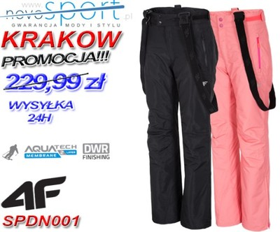 4f spodnie narciarskie damskie aquatech 5000