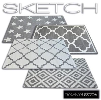 Dywany łuszczów Dywan Sketch 140x190 Cm 8 Wzorów
