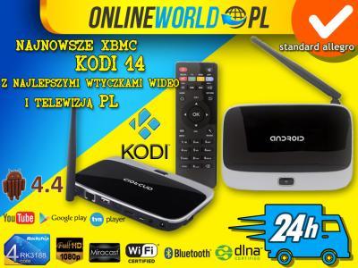 CS918 ANDROID 4.4 SMART TV BOX 2/8GB KODI SET PL