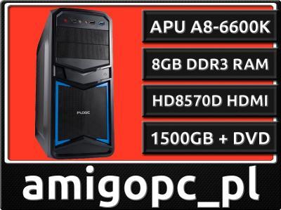 GAMER AMD QUAD 4x4,2GHz 8GB HD8570 2GB 1.5TB USB3