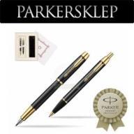 Zestaw Parker pióro + długopis IM Czarny GT 102W