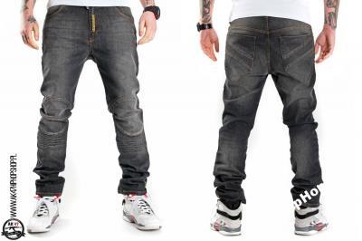 spodnie jeansowe bikers