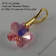 WISIOREK SWAROVSKI FLOWER 12 LIGHT ROSE AB ZŁOCONY