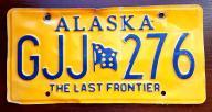 Alaska - tablica rejestracyjna USA
