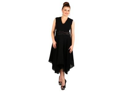 76aa073119 Sukienka rozkloszowana sukienki wesele ślub 48 - 6860764440 ...