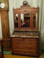 Piękna dębowa toaletka secesyjna-sklep Dąbrowa G.