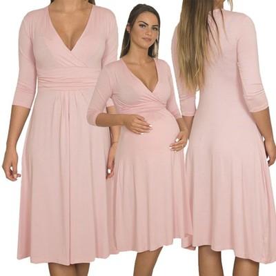 Sukienka Ciaza Lato Wiosna Wesele S 4xl Ks8314 6782293634 Oficjalne Archiwum Allegro