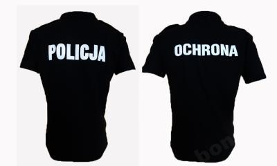 KOSZULKA POLO OCHRONA, KOSZULKA POLO POLICJA, T SHIRT MORO