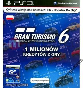 Playstation Karta Doladowujaca Gran Turismo 6 3855695147