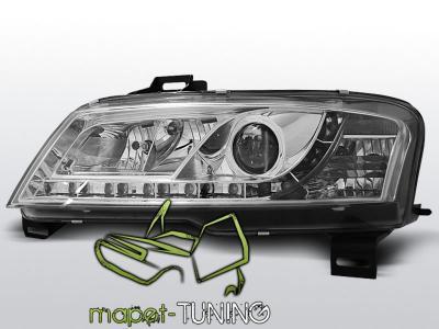 Lampy przód Fiat Stilo CHROM DayLight LED diodowe