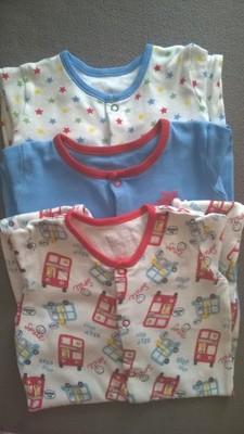 3 pajacyki piżamki George r. 86