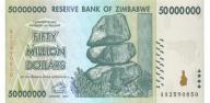 ZIMBABWE 50000000 Dollars 2008 P-79 UNC