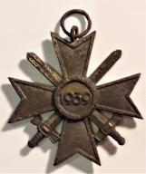 Niemiecki krzyż. Oryginał !!! 1939 miecze.