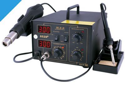 Stacja lutownicza WEP 852d+ 2w1 2xLED fan +flux223