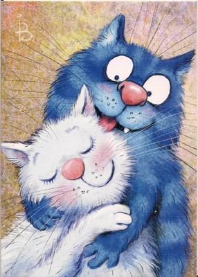 Niebieskie Koty Zakochana Para Bajka Zeynuk Rosja 6903948802